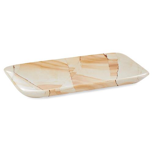 "8"" Marlstone Rectangle Tray, Natural"
