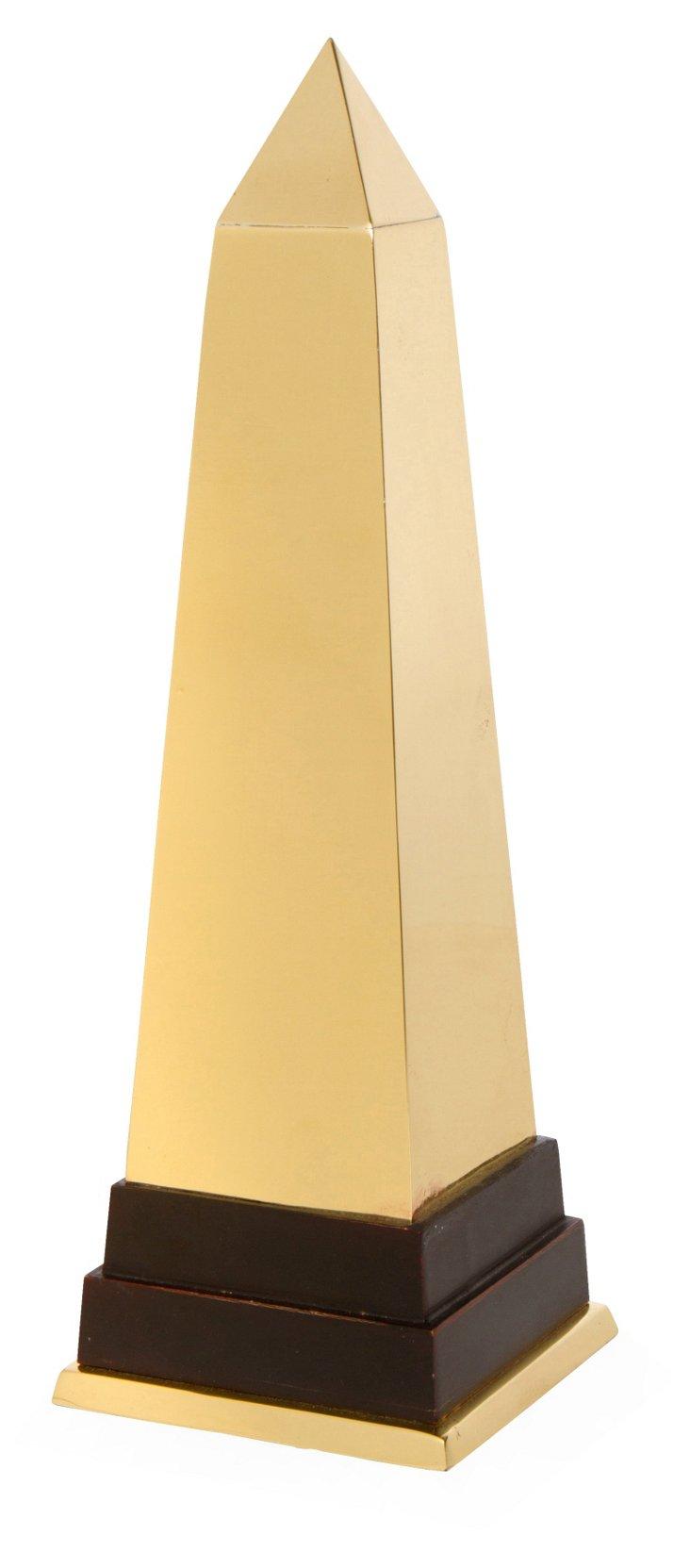 Vintage French Brass Obelisk
