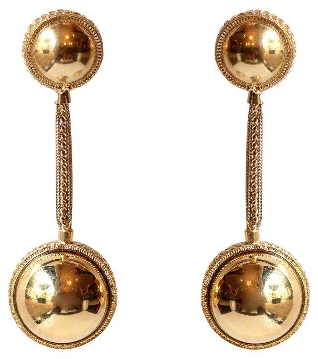 Escada Gold Earrings