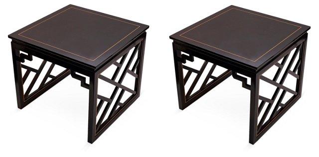 Dorothy Draper Side Tables, Pair