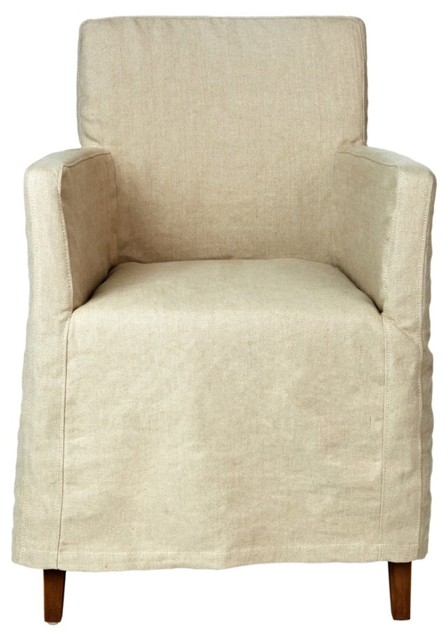 Doma Slipcovered Dining Chair, Linen