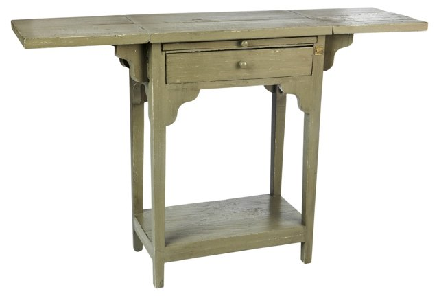 Cailey Console, Distressed Olive