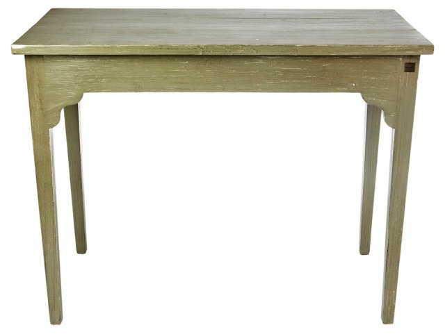 Gloria Console Table, Distressed Greige