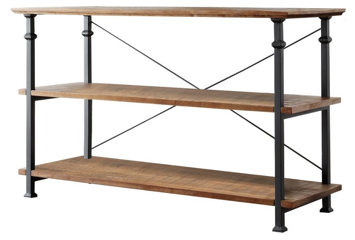 "Landon 50"" TV Stand, Brown/Black"