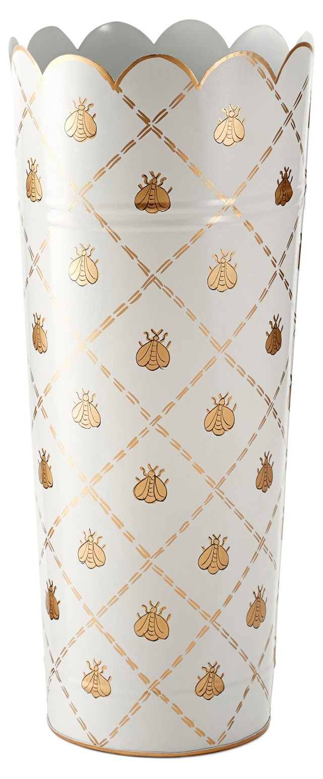 "21"" Umbrella Stand, Cream French Bee"