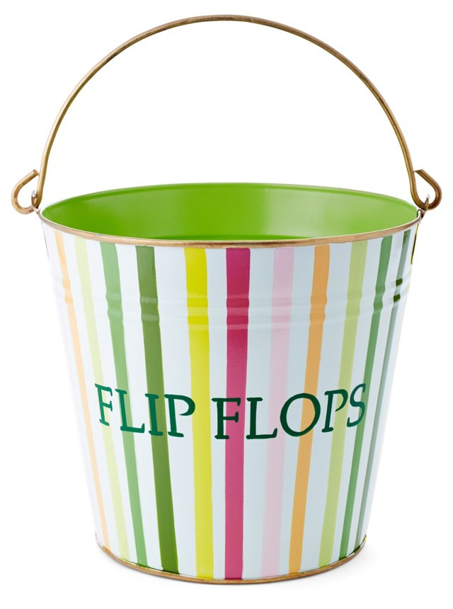 Flip Flop Bin, Bayshore Stripe