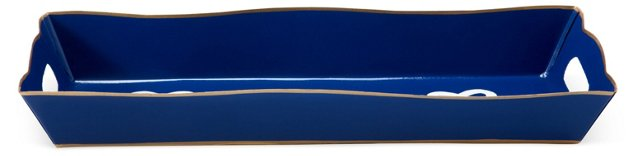 "12"" Vanity Tray, Navy Love Knot"