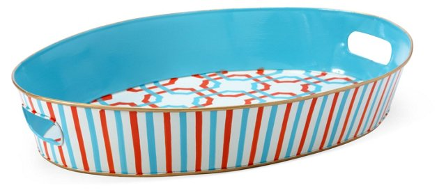Serving Tray, Hallie Aqua
