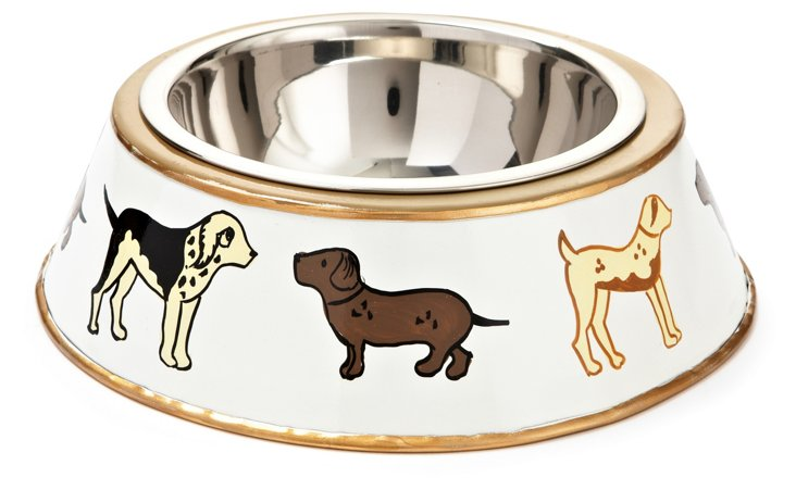 Kennel Club Dog Bowl, Cream