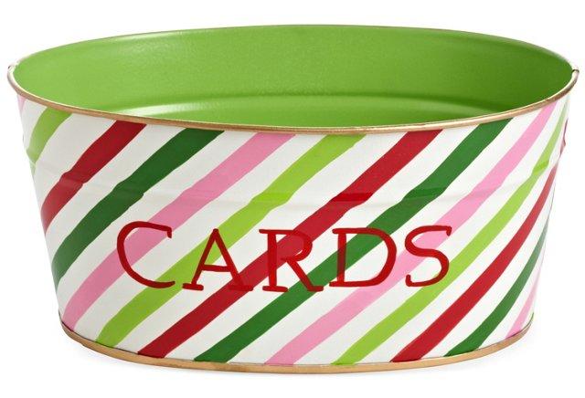 Cards Tub, Holiday Stripe