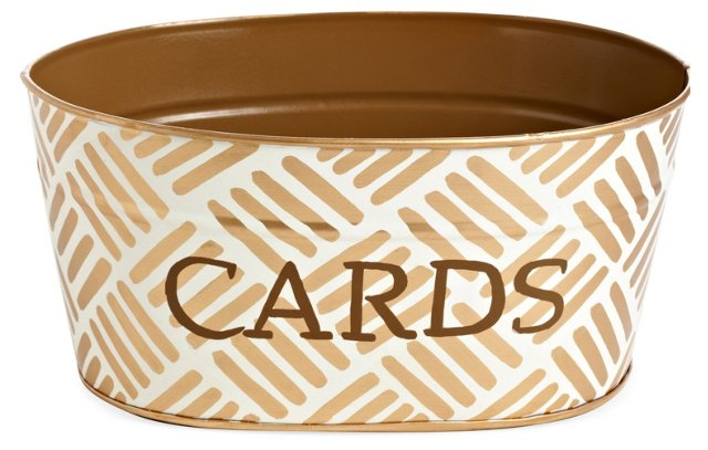 Cards Tub, Sweetgrass Gold