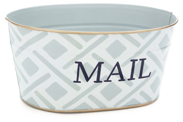 "12"" Mail Tub, Gray Colette"