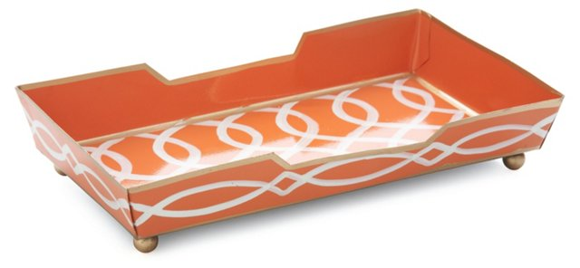 Guest Towel Tray, Kate Tangerine