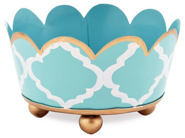 "5"" Coaster, Madeline Aqua"