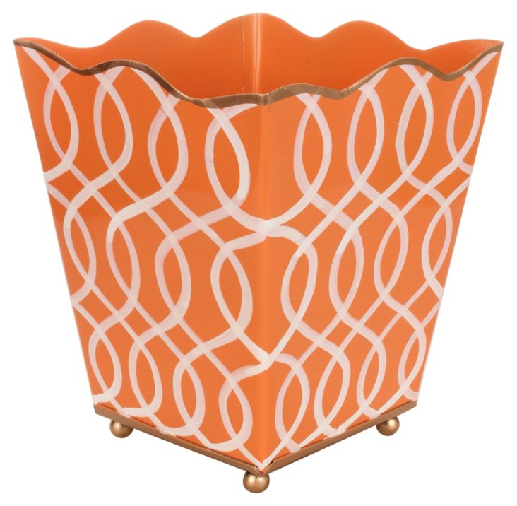 "6"" Square Cachepot, Kate Orange"