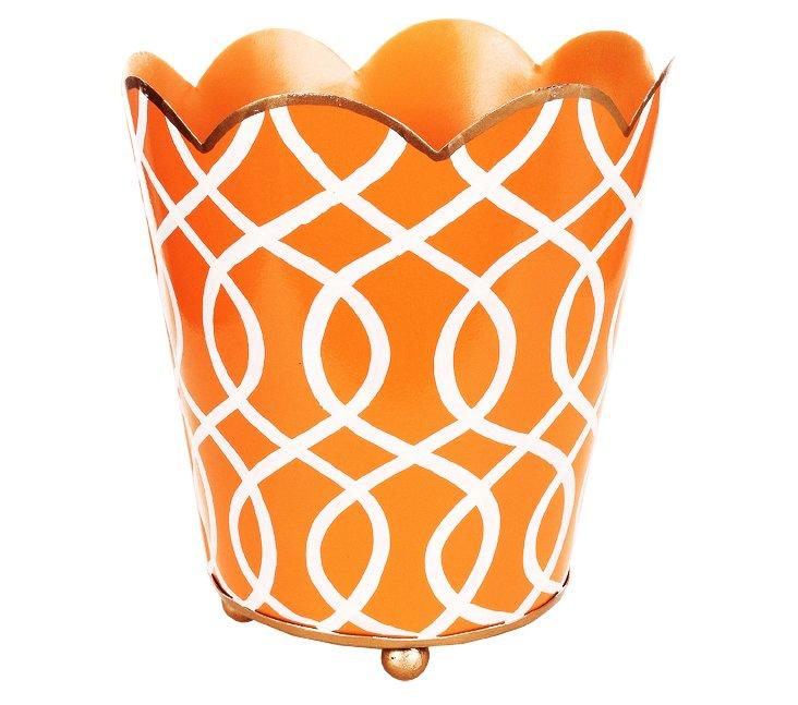 "7"" Decorative Cachepot, Kate Orange"