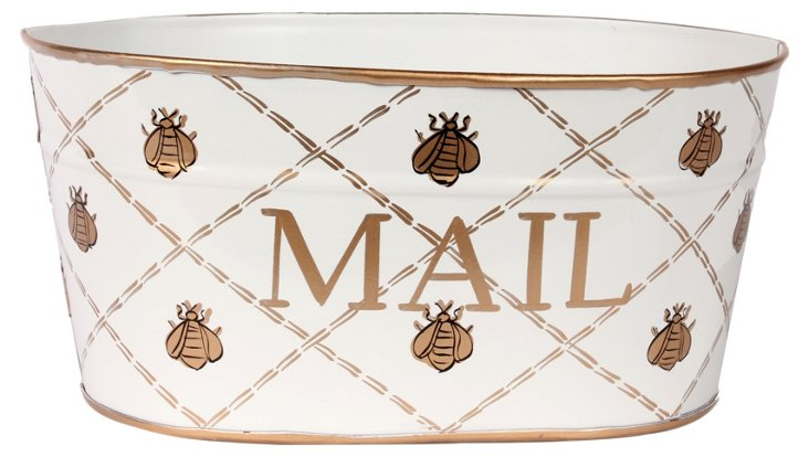 Small Mail Tub, French Bee Gold