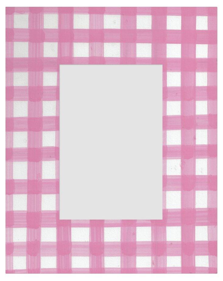 Gingham Frame, 4x6, Pink