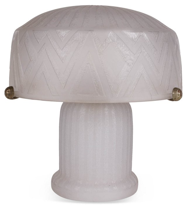 French Frosted Glass Lamp