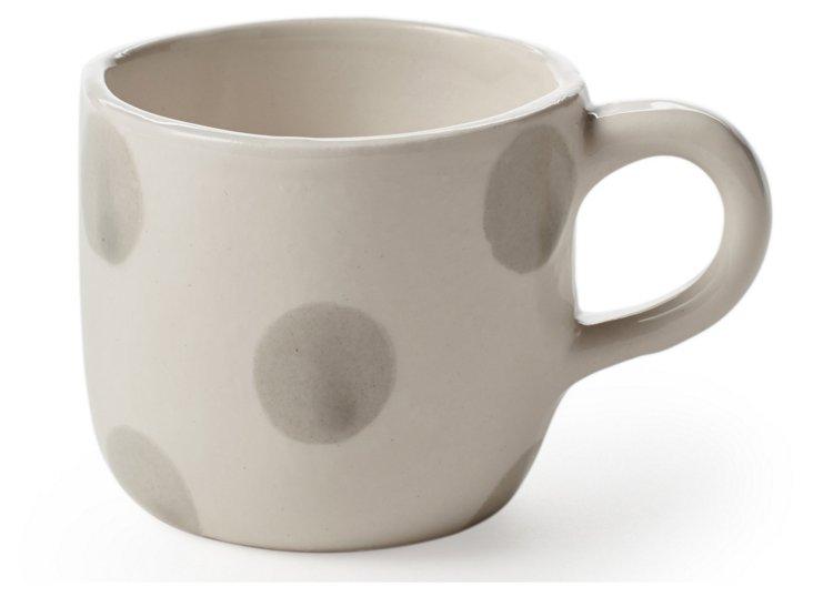 Tea Cup, Gray Dots