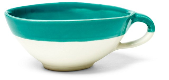 Dipped Cappuccino Cup, Teal