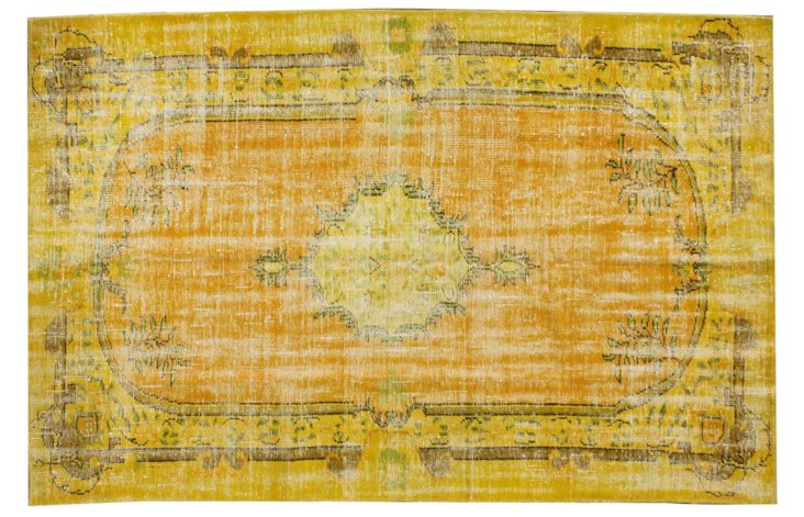 "5'5""x8'8"" Abrial Rug, Mustard/Gold"