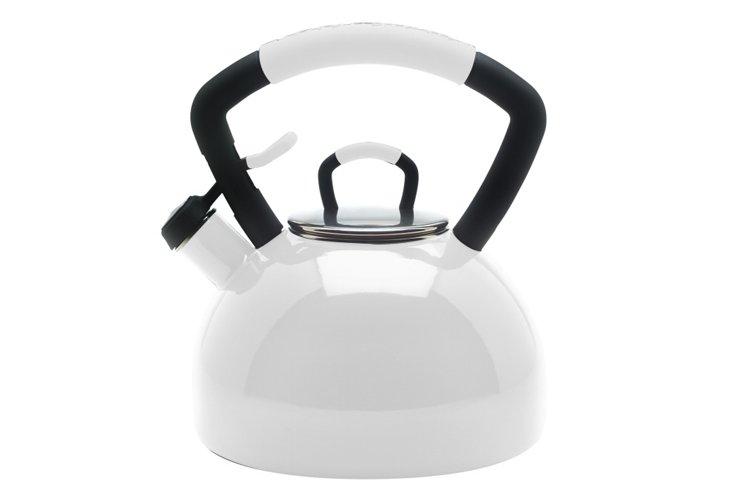 2.25 Qt Soft Grip Tea Kettle, White