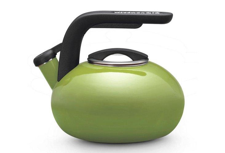 2 Qt Porcelain Teakettle, Apple