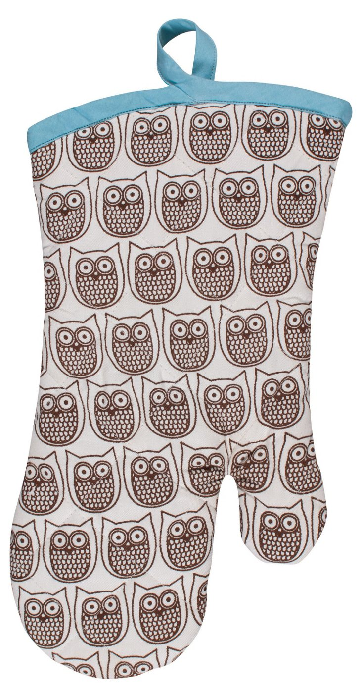 Set of 2 Hoot Oven Mitts