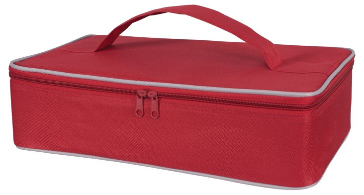 S/2 Casserole Carriers, Red