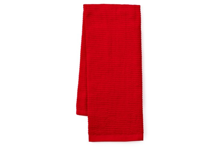 4-Pc Terry Kitchen Towel Set, Cherry