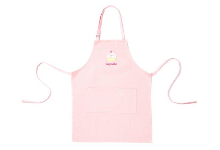 Cupcake Kid's Apron, Pink