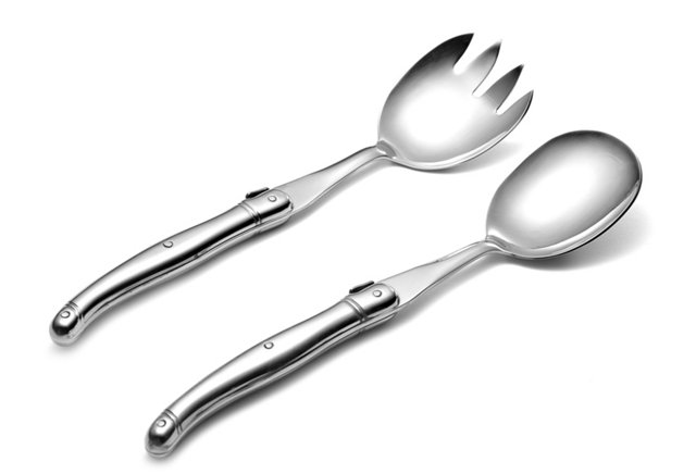 2-Pc Salad Set, Stainless