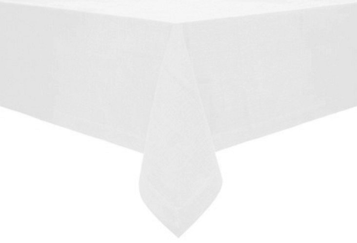 Fete Rustic Tablecloth, White