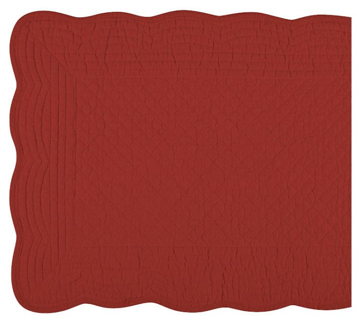 Boutis Table Runner, Red