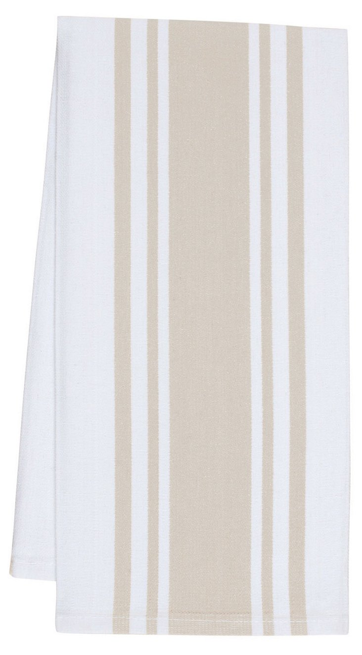 S/4 Center-Band Towels, Oatmeal