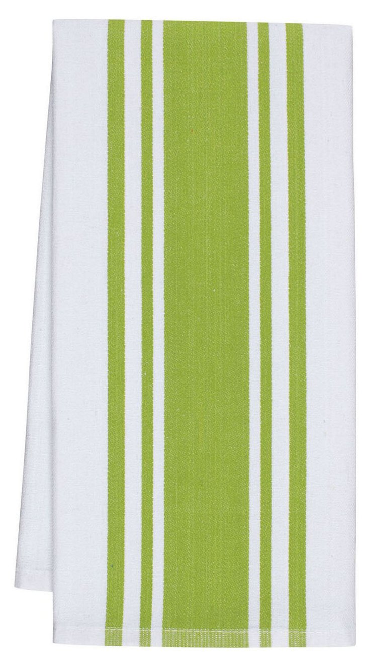 S/4 Center Band Dish Towels, Apple