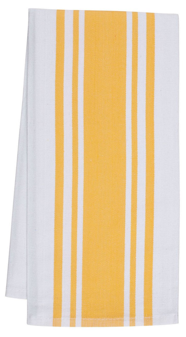 S/4 Center Band Towels, Yolk
