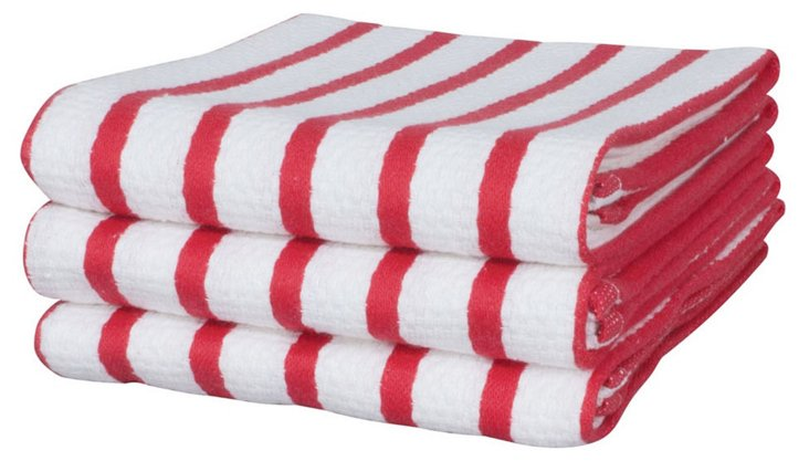 S/6 Dish Towels, Berry