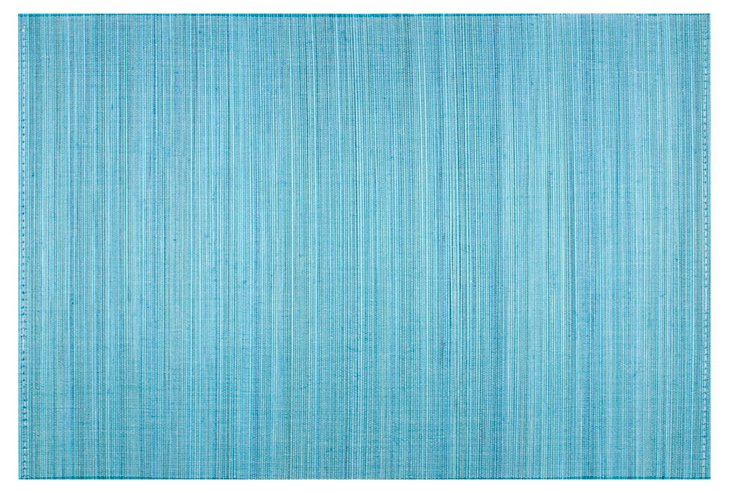 S/4 Bamboo Place Mats, Blue