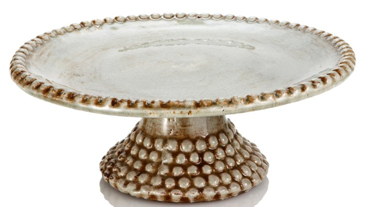 Beaded Cake Stand, Large