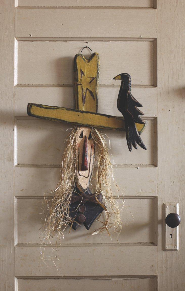 Scarecrow w/ Crow Door Hanger