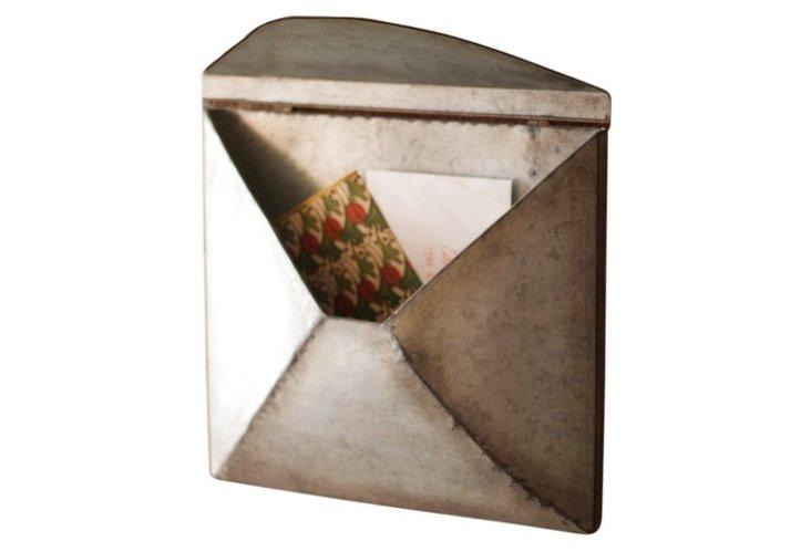 Large Zinc Envelope Wall Pocket