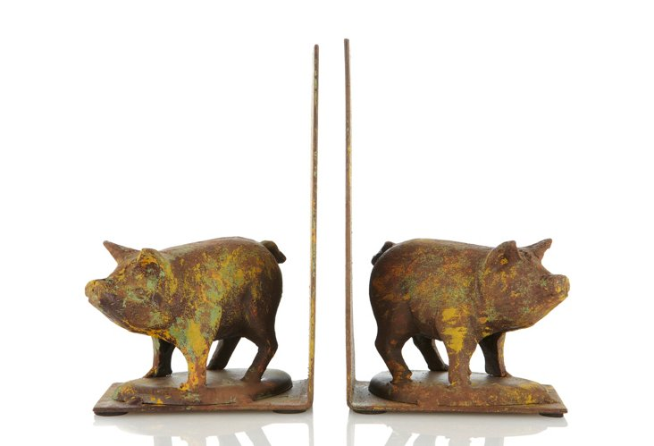 Pair of Cast Iron Pig Bookends