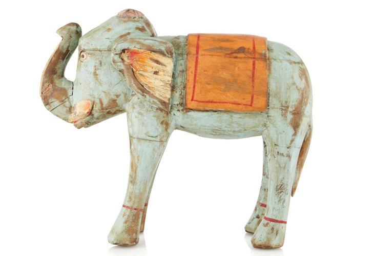 Hand-carved Elephant Figurine