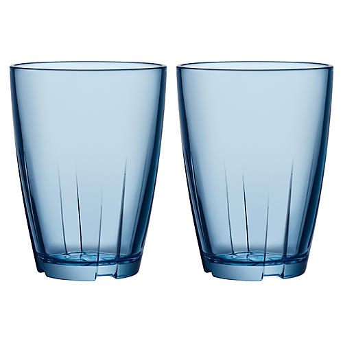 S/2 Bruk Tall Tumblers, Blue