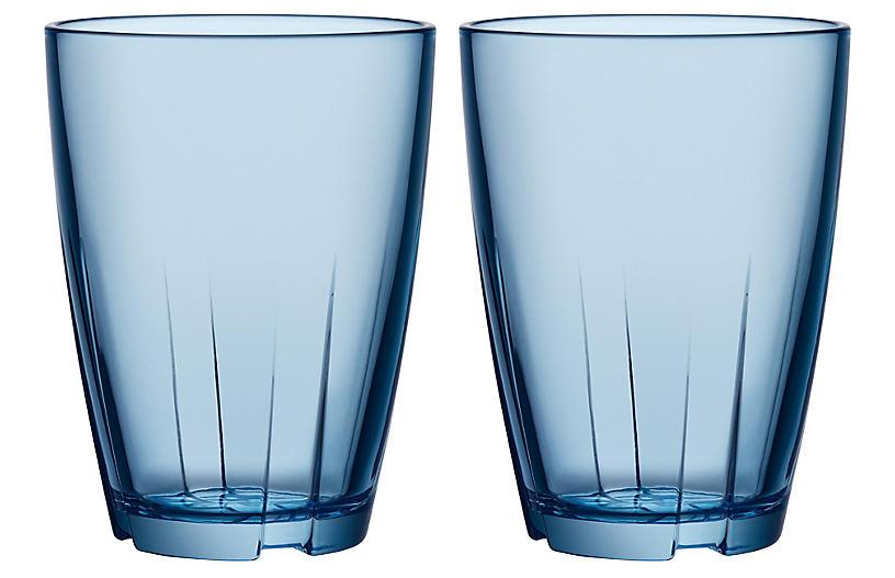 S/2 Bruk Tall Tumblers, Blue