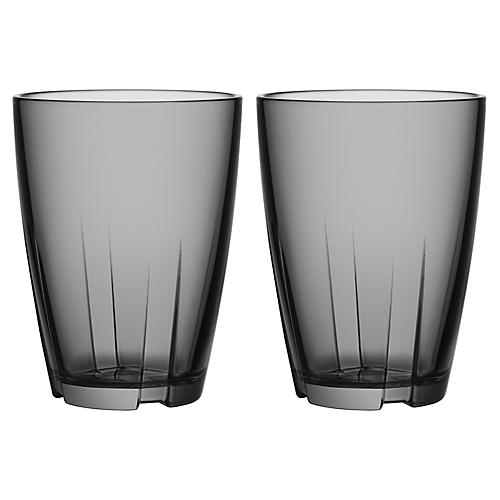 S/2 Bruk Tall Tumblers, Gray