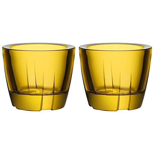 S/2 Bruk Anything Tumblers, Yellow