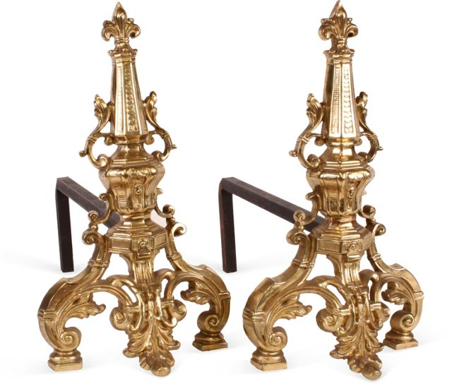 French Andirons, Pair I